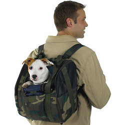 CAMO Backpack Dog Carrier - For dog up to 22 pounds