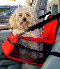Luxere Pet ~ Pet Lookout Car Booster Seat (NYLON - RED)